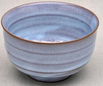 Blau glasierte japanische Keramikschale, 150 ml