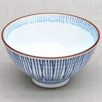 Japan Teeschale blau getreift