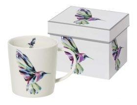 Porzellanbecher Kolibri in Geschenkbox