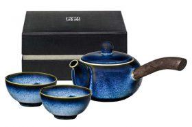 Teeset Rehu blau 3teilig