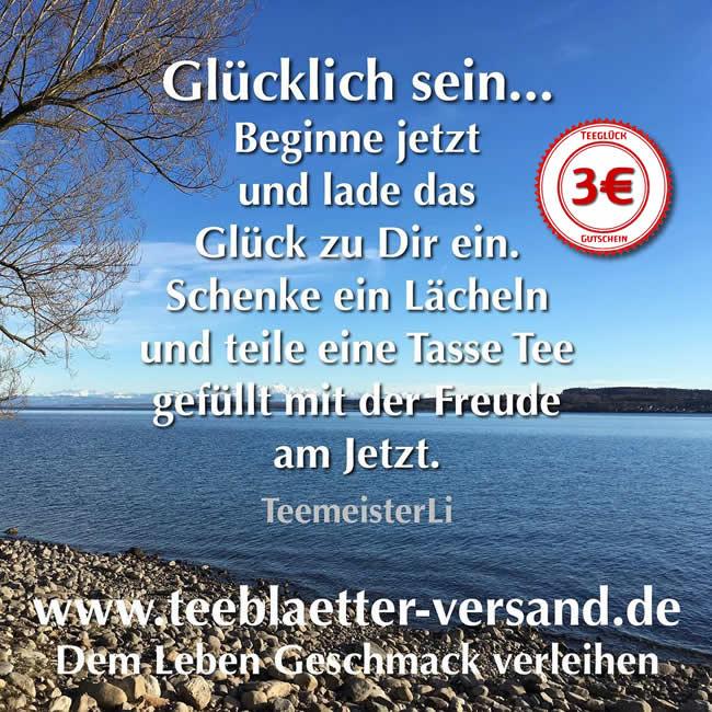 Teeglück-Gutschein zum Tag des Glücks 2019
