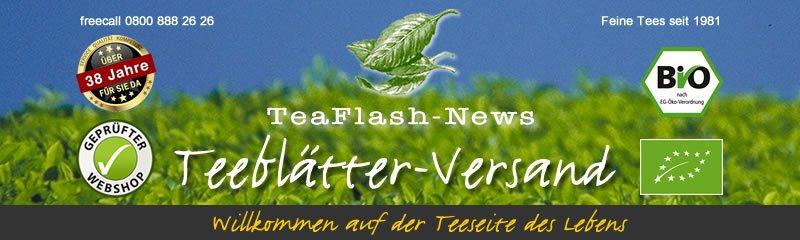 Teeblätter-Versand TeaFlash News