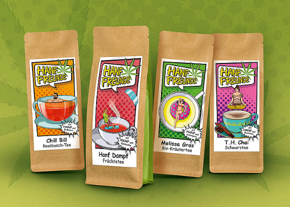 Hanftee Sortiment Teeblätter-Versand