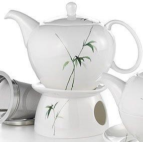 Teekanne - Minako - Bone China, mit Stövchen 1,0 l