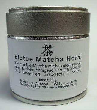Matcha Horai in der Dose 30g Biotee
