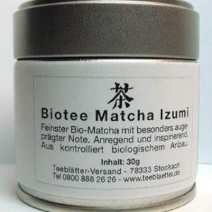 Matcha Izumi in der Dose 30g Biotee