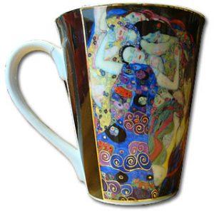 Teebecher Klimt  Jungfrau Porzellan
